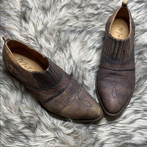 MATISSE Brown Leather Ankle Booties sz 7.5